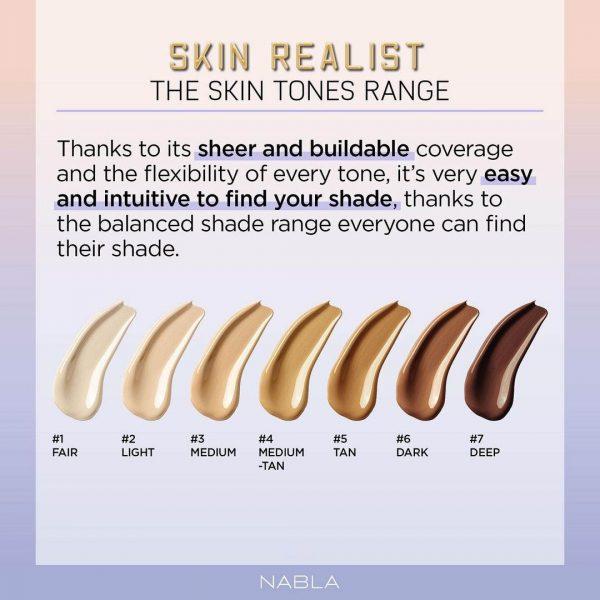 NABLA Skin Realist Beautifying Tinted Balm Foundation Shades Farben Colors Shade Range