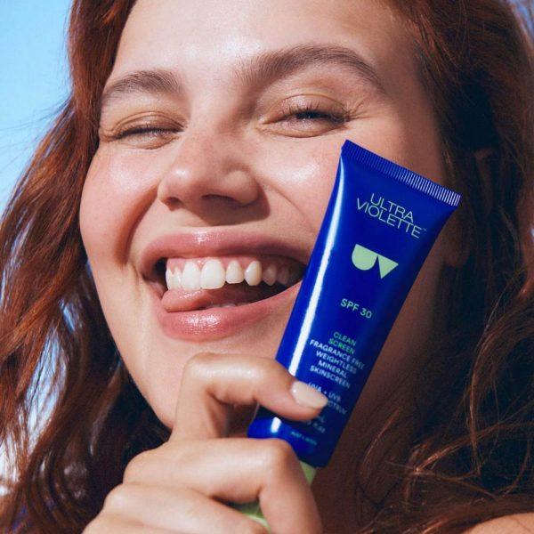 ULTRA VIOLETTE Clean Screen SPF 30 Fragrance Free Weightless Gel Skinscreen Sunscreen Sonnencreme Gel-Cream kaufen Model