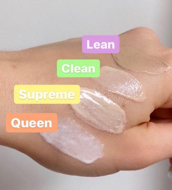 ULTRA VIOLETTE Sunscreen Swatches Textur Finish Farbe Sonnenschutz Sonnencreme Vergleich verrieben Haut