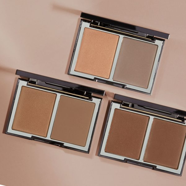 WAYNE GOSS The Radiance Boosting Face Palette Contouring Bronzer Blush Duo Visual