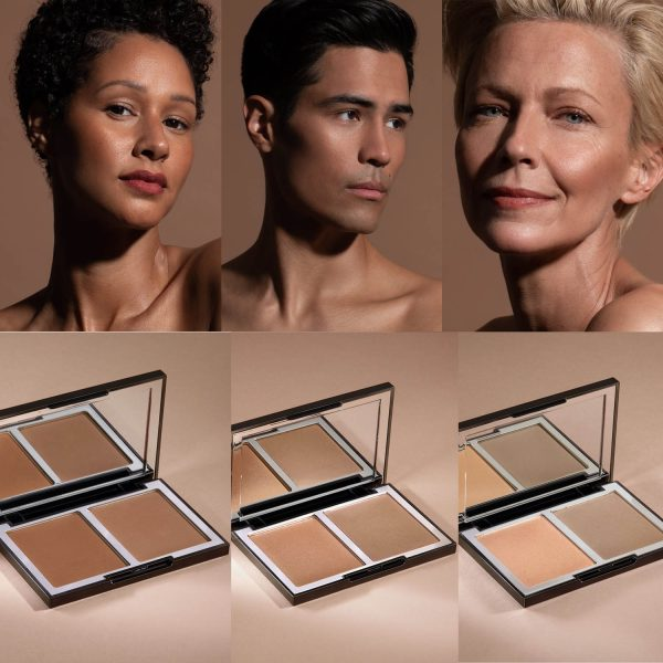WAYNE GOSS The Radiance Boosting Face Palette Deep Copper Satin Bronze Light Gold Contouring Blush Duo