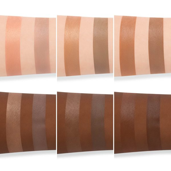 WAYNE GOSS The Radiance Boosting Face Palette Swatches Skin Deep Copper Satin Bronze Light Gold Contouring Blush Duo