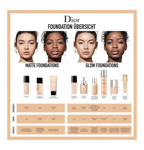 DIOR Foundation welche ist die richtige Forever Air