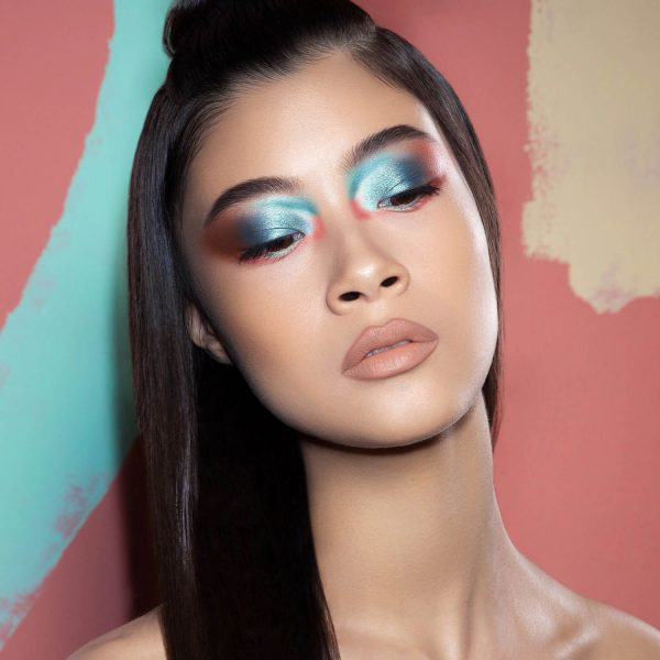 NATASHA DENONA Zendo Palette Eyeshadow Look Makeup Demo blue coral