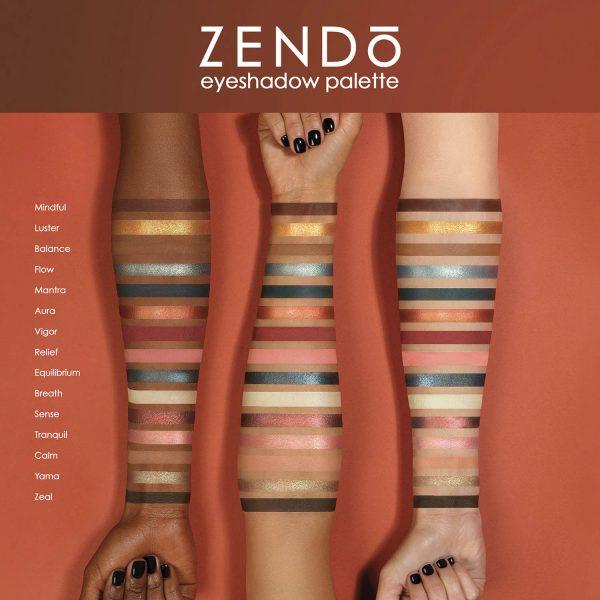 NATASHA DENONA Zendo Palette Eyeshadow Swatches Shades Colors Nuancen Farben