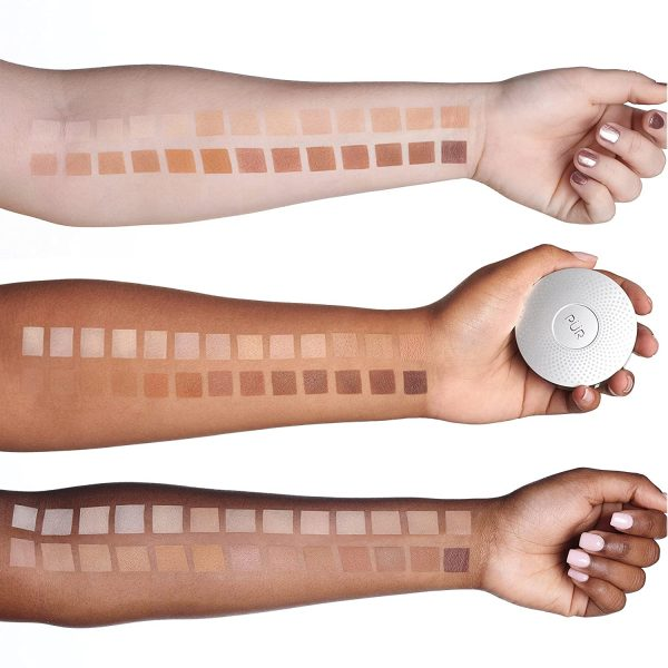 PÜR 4-in-1 Pressed Powder Mineral Foundation SPF 15 Swatches Shades Colors Farben Nuancen