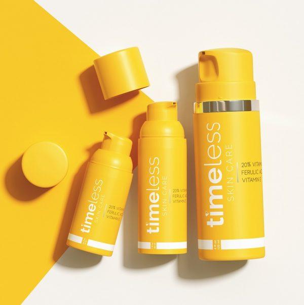 TIMELESS 20 Vitamin C E Ferulic Dupe Serum Textur Farbe