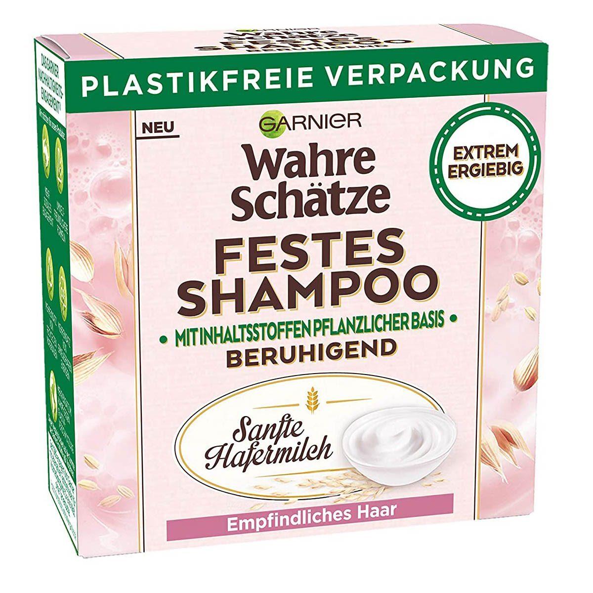 Garnier Wahre Schätze Festes Shampoo Sanfte Hafermilch für empfindliches Haar
