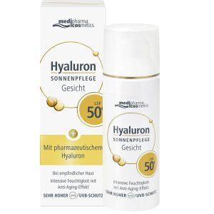 MEDIPHARMA Hyaluron Sonnenpflege Gesicht LSF SPF 50 plus kaufen bestellen Preisvergleich Rabattcode Coupon Code Erfahrungen Review Test