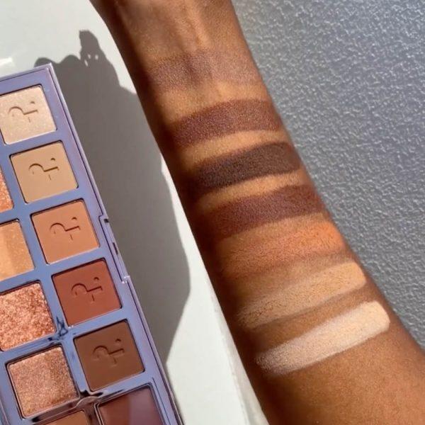 PATRICK TA Major Dimension Eyeshadow Palette Swatches Matte Shades Dark Skin