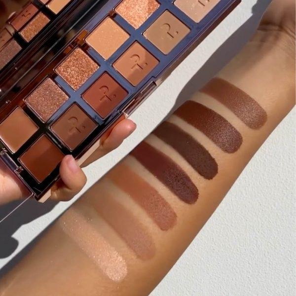 PATRICK TA Major Dimension Eyeshadow Palette Swatches Matte Shades Medium Skin