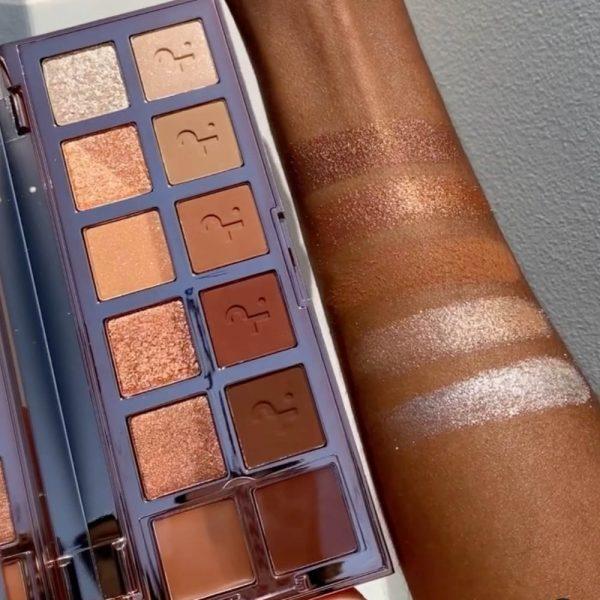 PATRICK TA Major Dimension Eyeshadow Palette Swatches Shimmer Shades Dark Skin