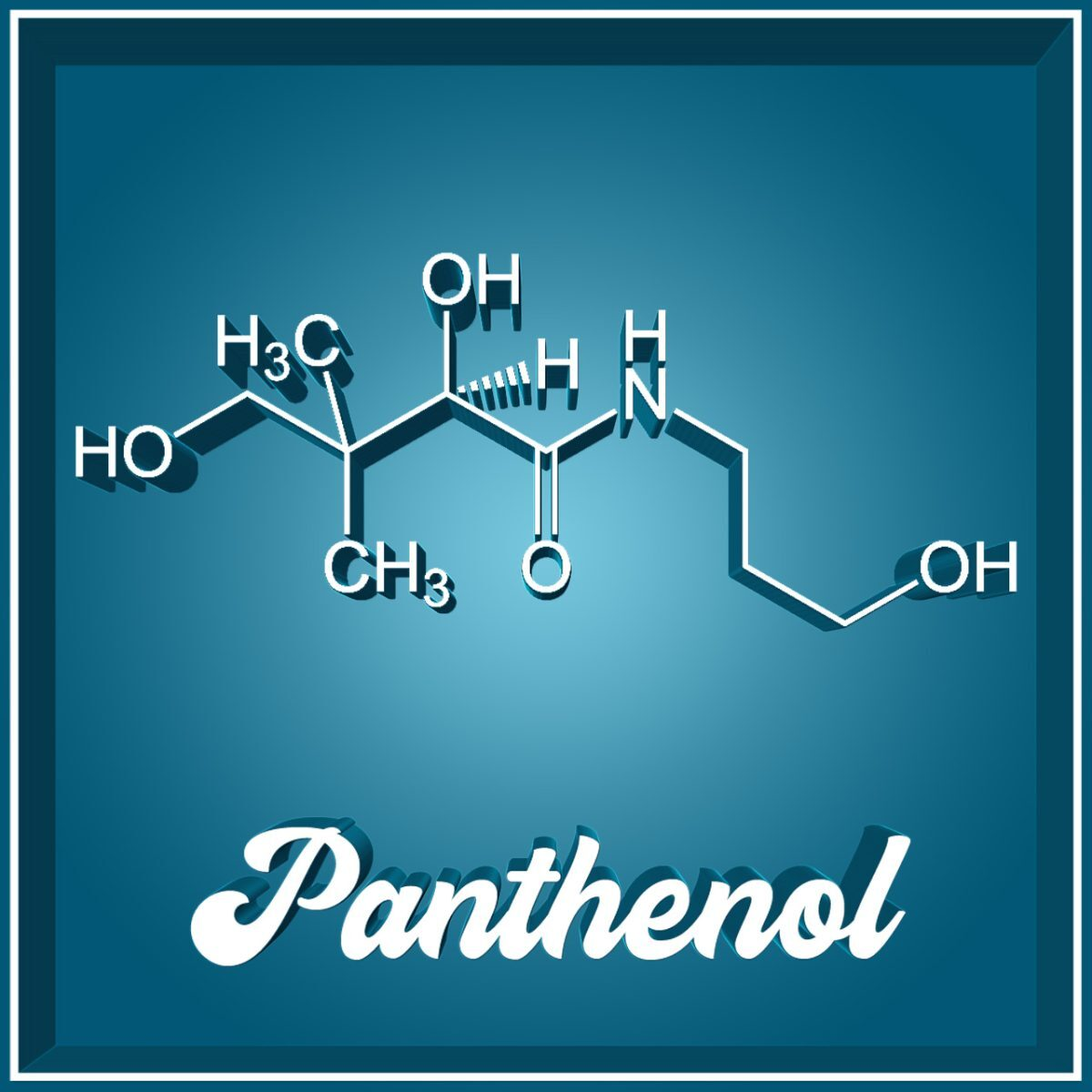 Panthenol Vitamin B5 Molekül-Hautpflege Wundheilung