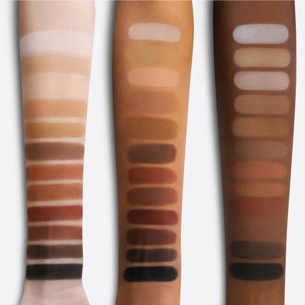 MAKEUP BY MARIO Master Mattes Eyeshadow Palette Swatches Shades Color Farben aufgetragen Haut Vergleich