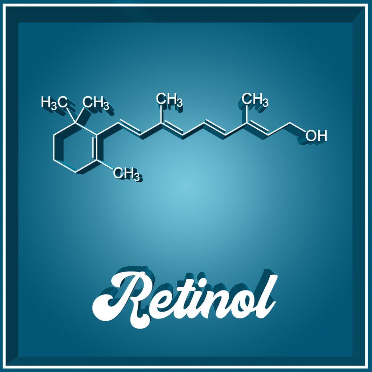 Retinol Vitamin A Molekül Struktur
