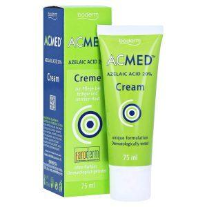 BODERM AcMed Azelaic Acid 20% Creme Azelainsäure Akne Rosacea Hyperpigmentierung PIE PIH bestellen kaufen Erfahrungen Review Test