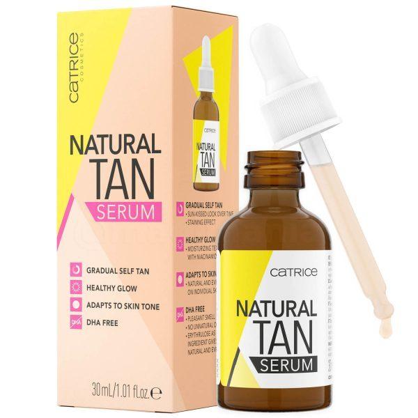CATRICE Natural Tan Serum Selbstbräuner Gesicht ohne DHA Selftanner Drops Tropfen Erythrulose kaufen bestellen Erfahrungen Review Test