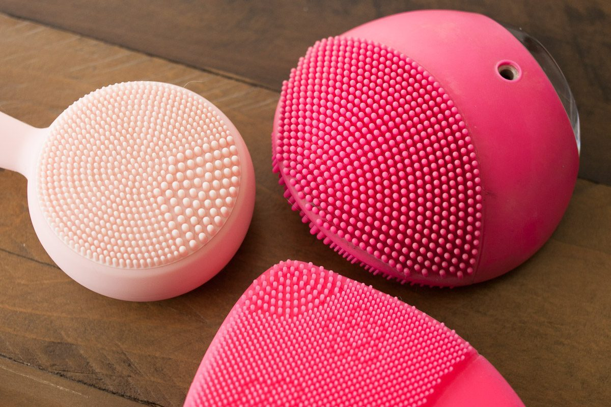Gesichtsreinigungsbürste Schall Silikon