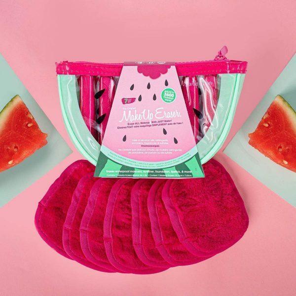 MAKEUP ERASER Watermelon 7-Day Set Mikrofasertuch Reinigungstuch Gesichtsreinigungstuch milde Reinigung Ambient
