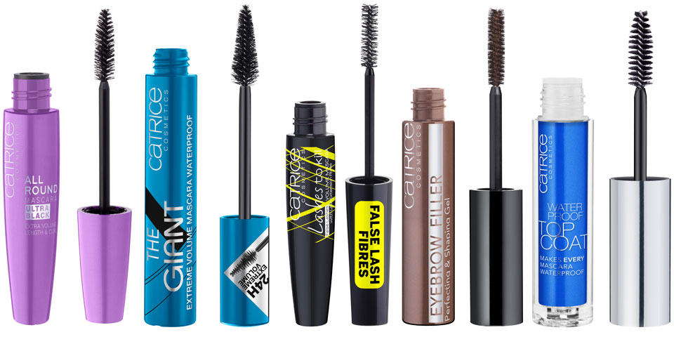 CATRICE Mascara - Allround Ultra Black - The Giant Waterproof - Lashes to Kill Volume - Eyebrow Filler - Waterproof Top Coat - Sortimentsumstellung 2013