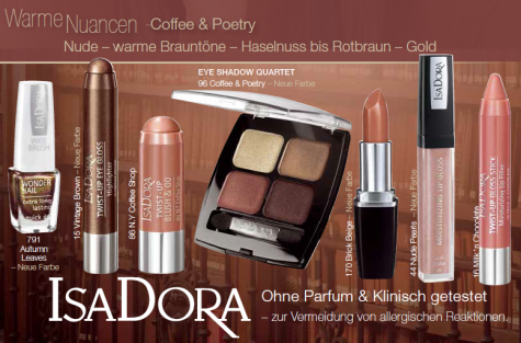 ISADORA Coffee Poetry Collection Herbst 2014