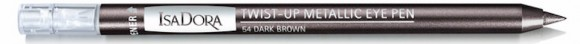 IsaDora Paradox Twist-up Metallic Eye Pen Dark Brown 54