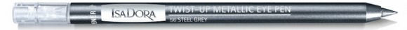 IsaDora Paradox Twist-up Metallic Eye Pen Steel Grey 56
