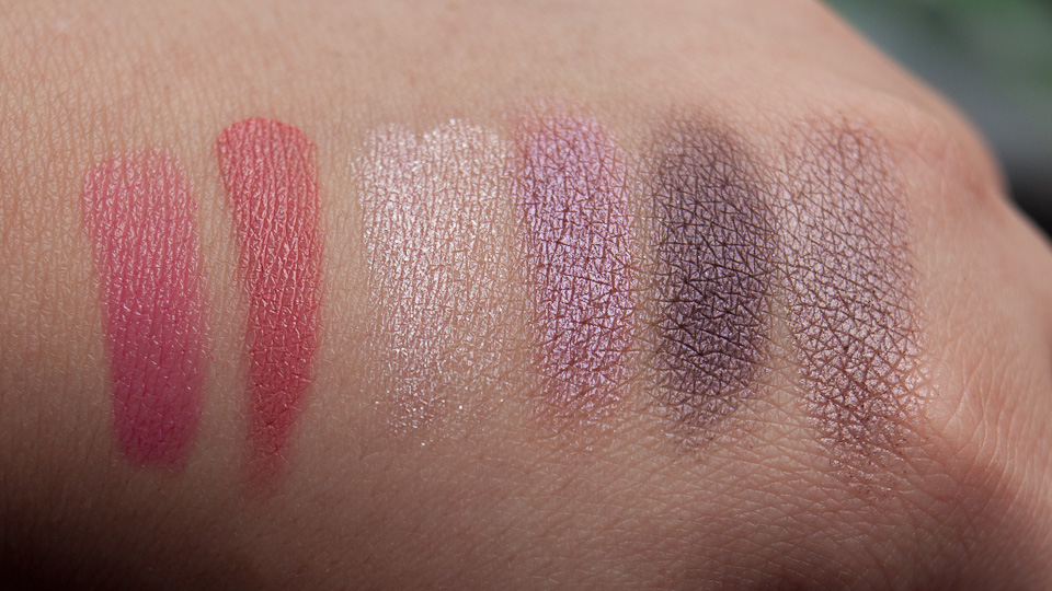 Rosa Lila Makeup MAC Veluxe Pearlfusion Pinkluxe Produkte
